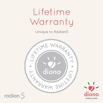 Diono Radian 5 : Lifetime Warranty